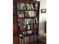 Tall Mahogany Veneer Bookcase