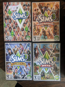 Sims 3 Games and expansions