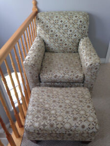 Accent Chair and Ottoman (Ashley furniture)