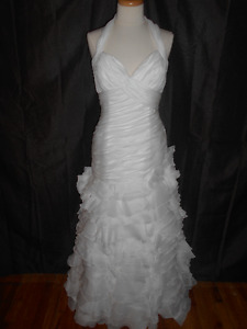 NEW MADELINE GARDNER WEDDING DRESS SIZE 12-ROBE DE MARIEE NEUVE