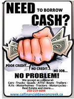 NEED QUICK CASH. TITLE/COLLATERAL LOANS