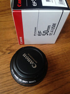 Canon 50mm 1.4 AF USM Prime Lens with pro uv protector filter