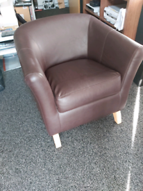 Leather Armchair Brown