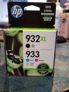 HP printer ink combo pack #933 black and 932 color for sale