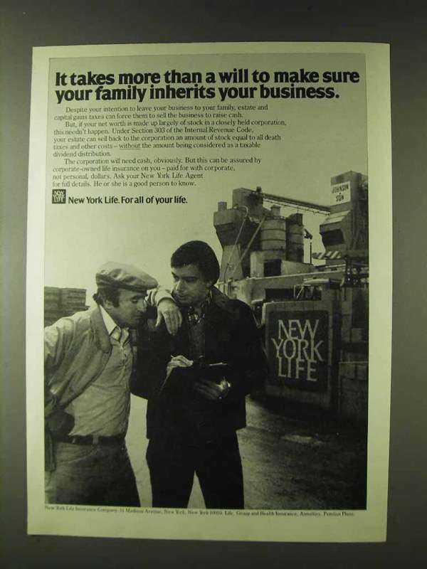 1979 New York Life Insurance Ad - Takes More Than Will