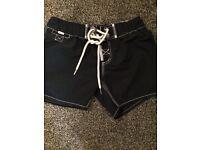 Superdry navy shorts S