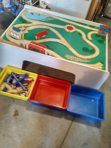 Beautiful all wood Train Table with all pieces included!!