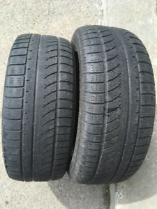 2 PNEUS/ 2 ALL SEASON TIRES 255/55/18 CHAMPIRO
