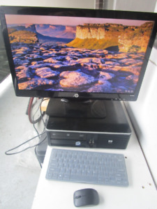 "WF, HP E8400, Monitor 21"", Win 10 P, Office 2016 Pro, nice"