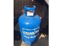 15kg half full calor gas butane bottle blue