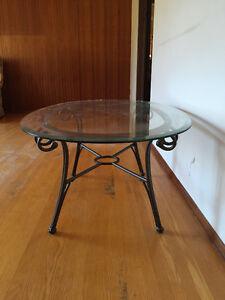 Oval Glass Top Coffee Table Edmonton Edmonton Area image 2