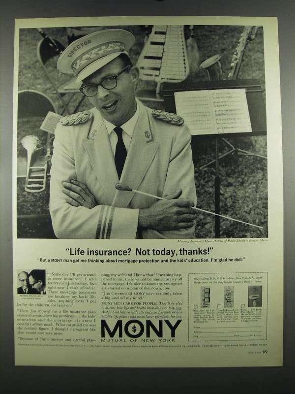 1964 MONY Mutual of New York Ad - Life Insurance?