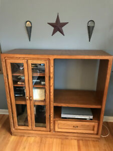 Tv stand - solid oak! Great condition - $60