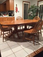 Dining/Kitchen EXT Solid Oak Table Set
