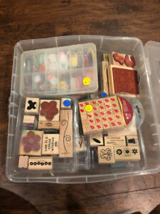 Bin of stamps/Card making supplies