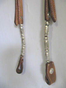Western Bridle + Reins 2 Ear Silver Set Saddles + Tack For Sale London Ontario image 3
