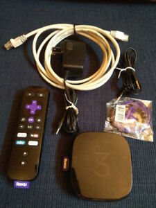 Roku 3 Streaming Media Player in great condition