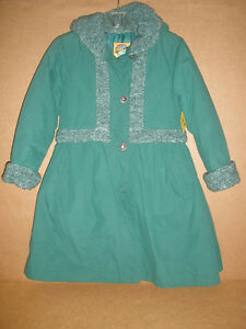 Girl's Green Dress Coat, Size 10