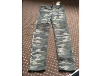 Size 6 skinny camouflage jeans