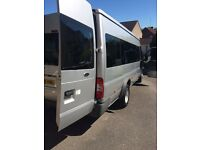 Silver Ford Transit 17 Seat Minibus – 100 T430 17S RWD - LOW MILEAGE/GREAT CONDITION
