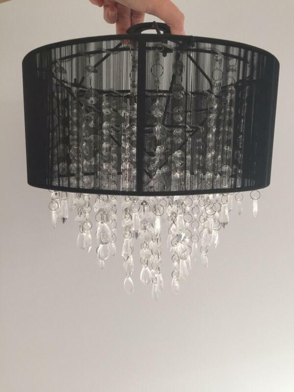Led Ceiling Lights Gumtree : Black crystal ceiling light shade in billericay essex