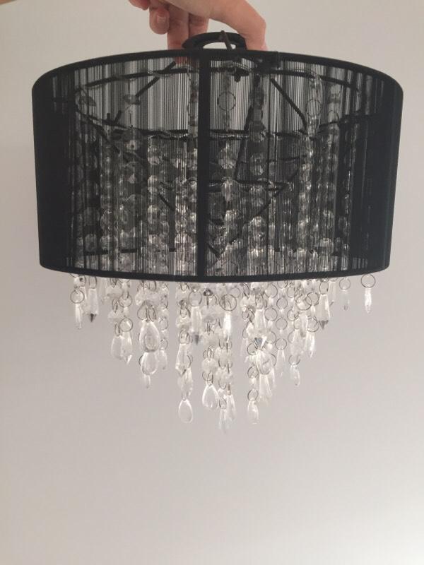 Ceiling Lights Gumtree Belfast : Black crystal ceiling light shade in billericay essex
