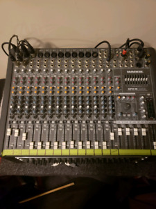 Mackie cfx 16 plus rack effex and mixing station