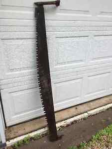 Huge Old Ice Saw & Crosscut Saw Blade