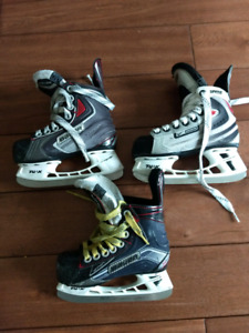 Youth/kids hockey skates (2x Y10 & 1x Y11)