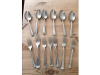 Collection of vintage forks and spoons