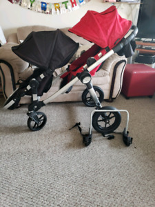 City select double stroller with extra frame
