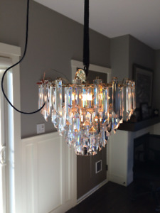 Vintage Lucite Waterfall Chandelier