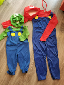 Super Mario Brothers costume/6-12mo and 3-5T