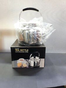 STAINLESS STEEL STOVE TOP TEA KETTLE- 7.0 QT- NEW