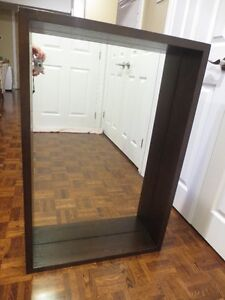 Mirror with shelving