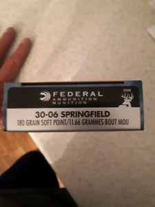Federal 30-06 cartridges brand new in box.