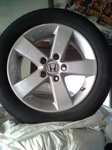 Honda Civic Aluminum rims & all season radial tires