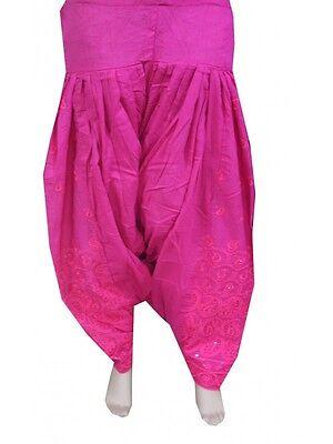 Fuchsia Indian Readymade Ethnic Punjab Suit PATIALA/ Patiyala SALWAR Women Pants for sale  Shipping to United States