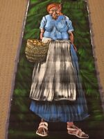 VERY LARGE Hand Painted Original of woman with pipe & eggs!