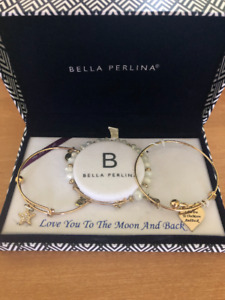 Bella Perlina: Love You To The Moon And Back Bracelet Set