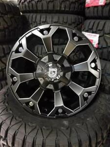 20x9 MATTE w/milling BLACK WHEELS! awesome CONCAVE look!! -Financing available-Dodge-Chevrolet-Ford-Lexus-Toyota-8025