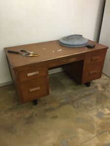 solid wooden desk