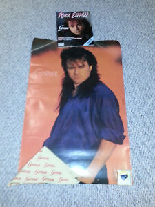 GOWAN poster, button, bandana and magazine 1987