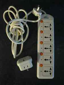 UNIVERSAL POWER STRIP (BAR) with 5 OUTLETS