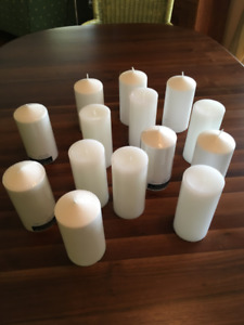 Pillar Candles, perfect for center pieces at your wedding
