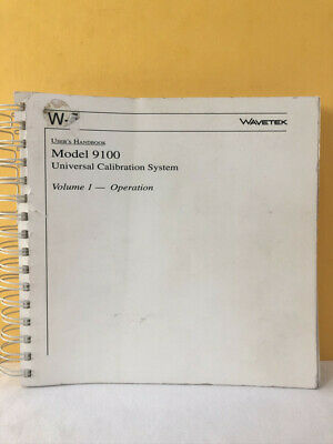 Wavetek Model 9100 Universal Calibration System Users Handbook