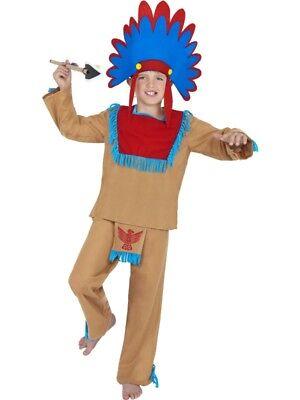 Indianerkostüm Kinder Indianer Rothaut Kostüm 6-8 Jahre Gr M
