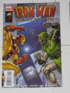 Marvel Comics Iron Man Legacy of Doom#'s 1,2,3 & 4 comic book
