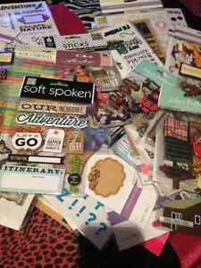 Lot of 100 packs of scrapbook stickers