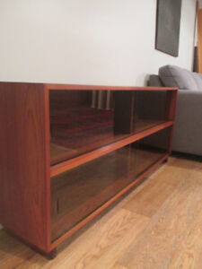 MCM Teak Hutch with Tinted Glass